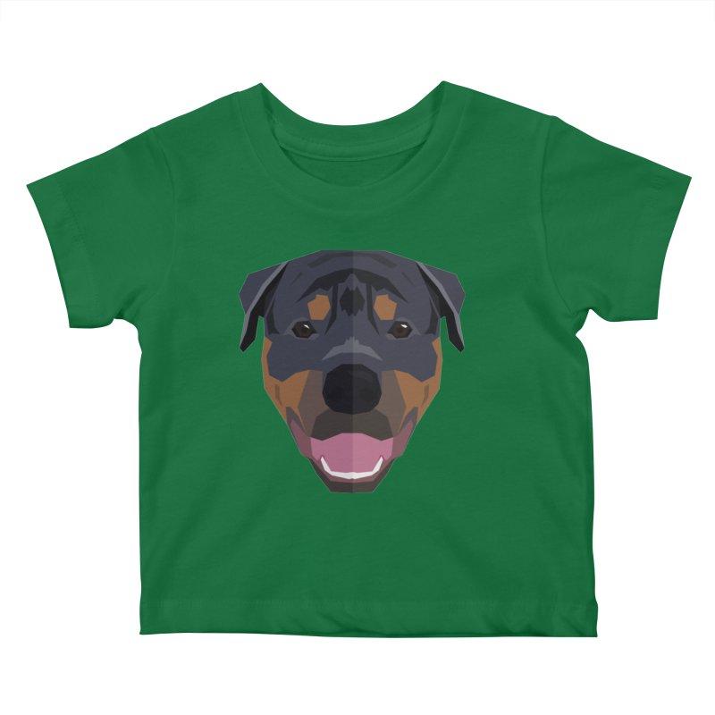 Doggoz Rottweiler Kids Baby T-Shirt by IamIamI, UAreUareU?