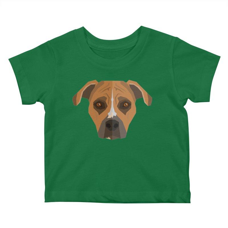Doggoz Stafford Kids Baby T-Shirt by IamIamI, UAreUareU?