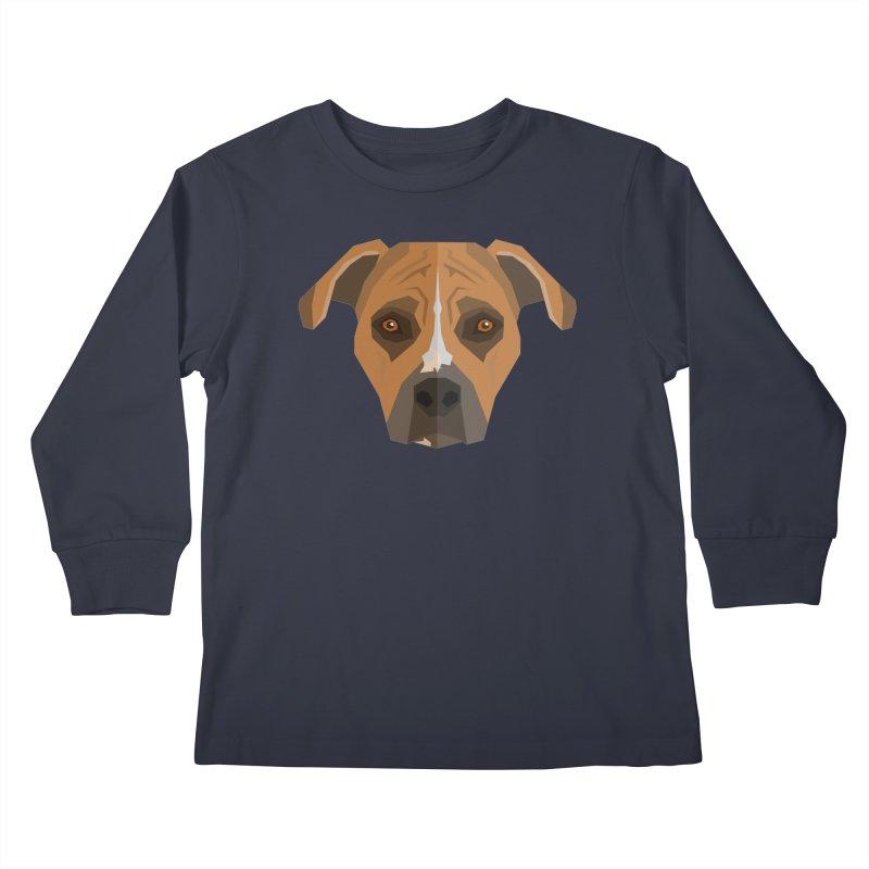 Doggoz Stafford Kids Longsleeve T-Shirt by IamIamI, UAreUareU?