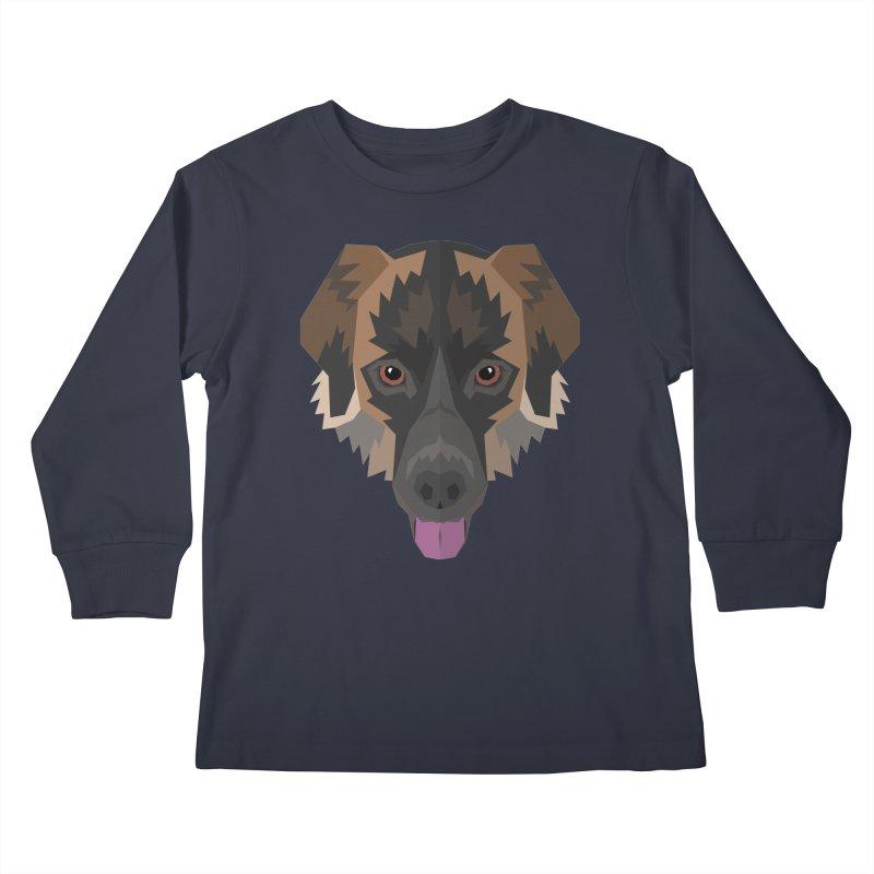 Doggoz Mixedbreed Kids Longsleeve T-Shirt by IamIamI's Artist Shop