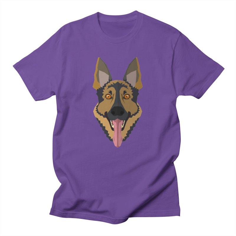 Doggoz German Shepperd Men's T-Shirt by IamIamI, UAreUareU?