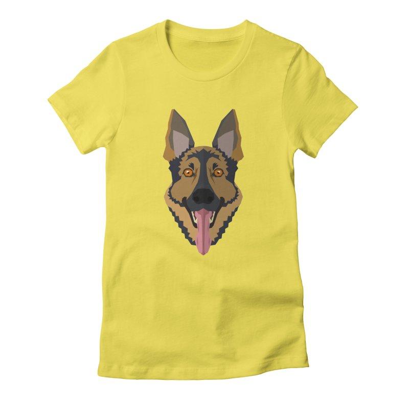 Doggoz German Shepperd Women's T-Shirt by IamIamI, UAreUareU?