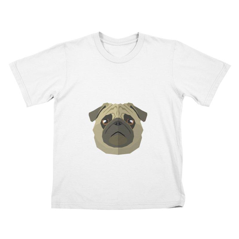 Doggoz Pug Kids T-Shirt by IamIamI, UAreUareU?