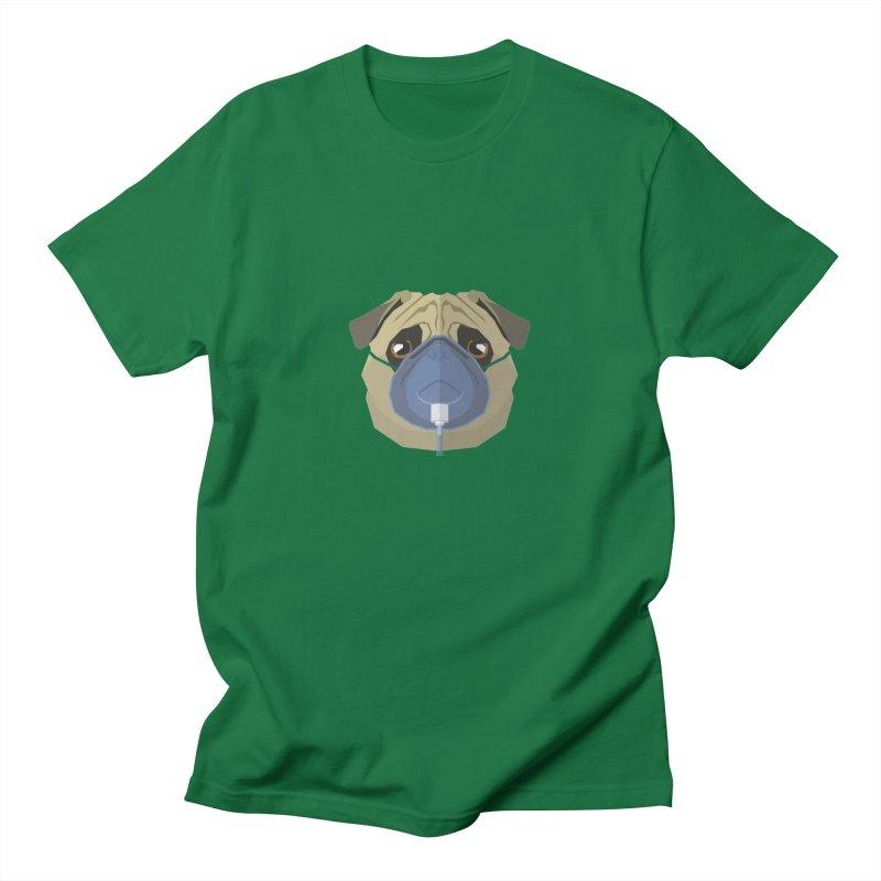 Quarantine Pug Men's T-Shirt by IamIamI's Artist Shop