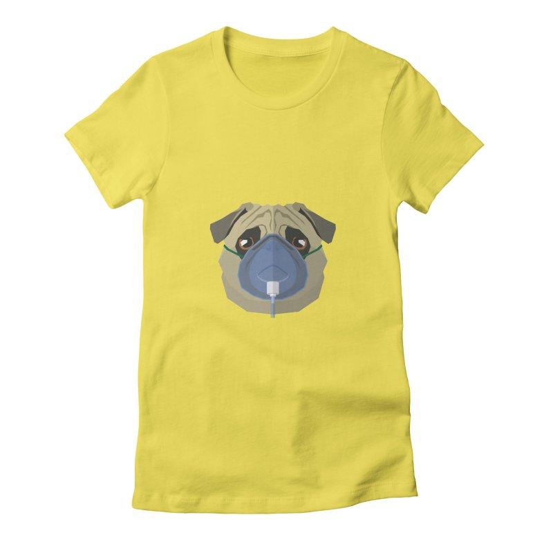 Quarantine Pug Women's T-Shirt by IamIamI, UAreUareU?