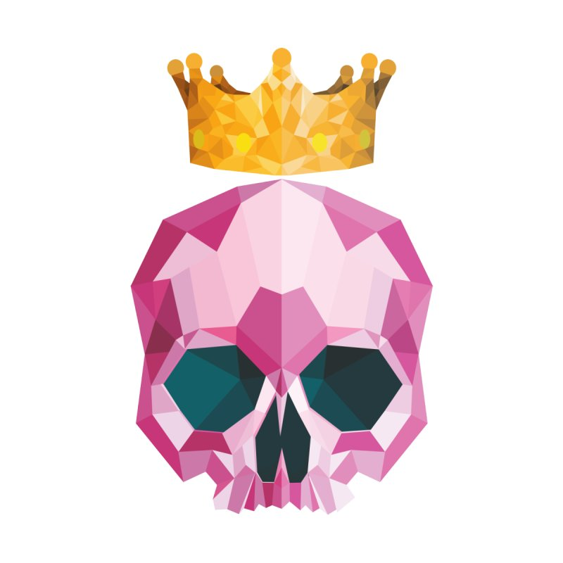 Crystal King Skully Women's T-Shirt by IamIamI's Artist Shop