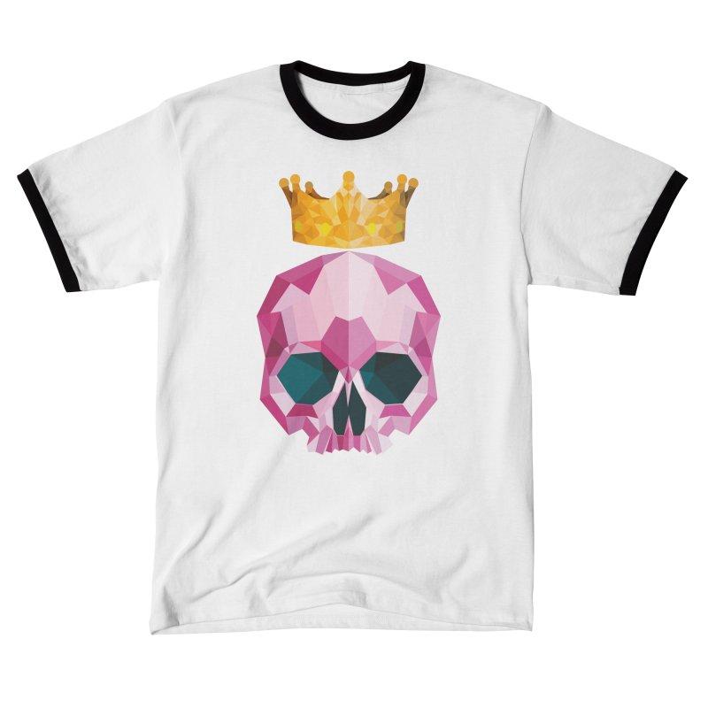 Crystal King Skully Men's T-Shirt by IamIamI, UAreUareU?
