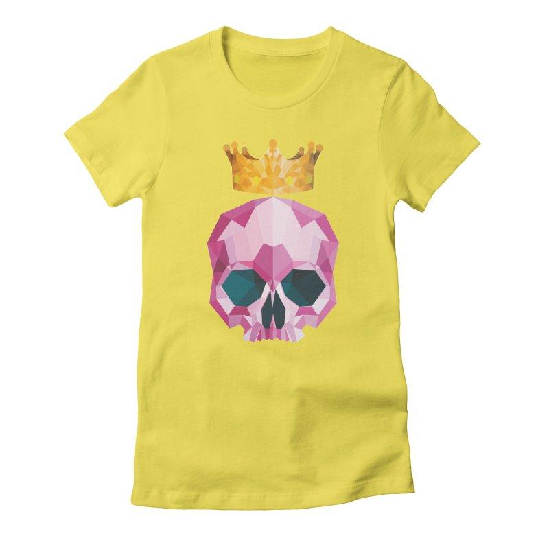 Crystal King Skully Women's T-Shirt by IamIamI, UAreUareU?