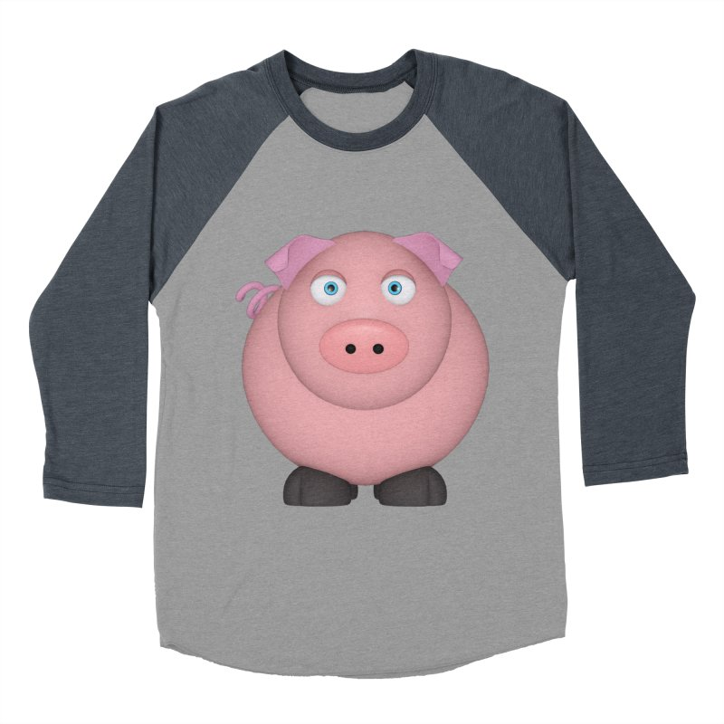 Ping Pig Women's Baseball Triblend Longsleeve T-Shirt by Me&My3D