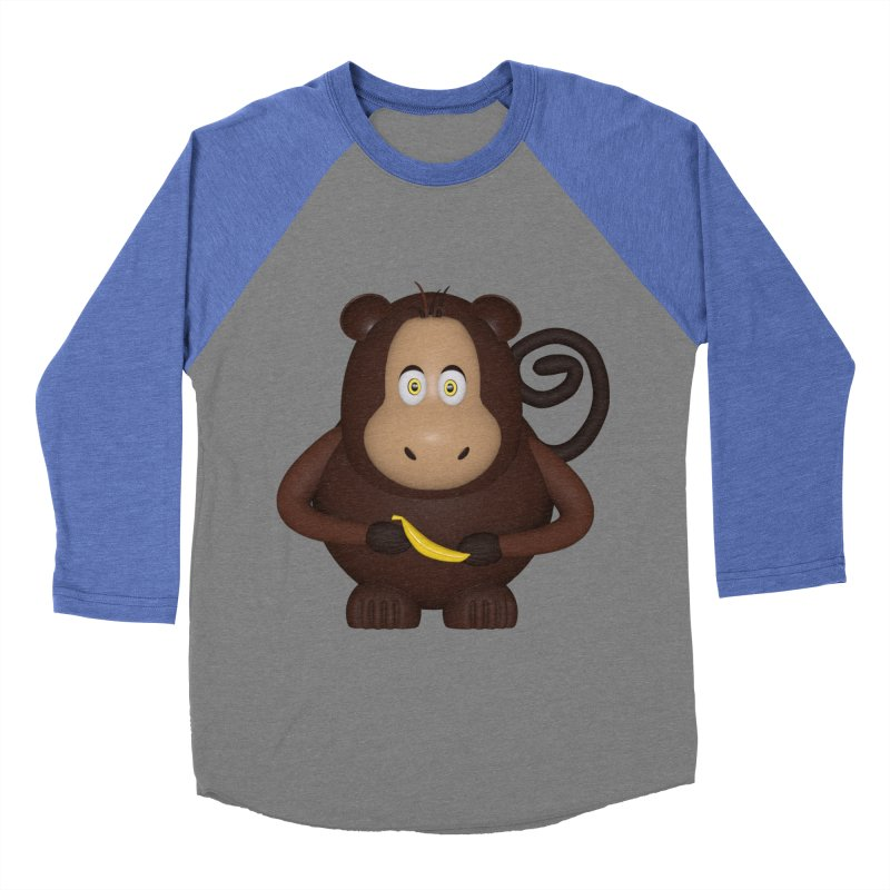Monkey  Women's Baseball Triblend Longsleeve T-Shirt by Me&My3D