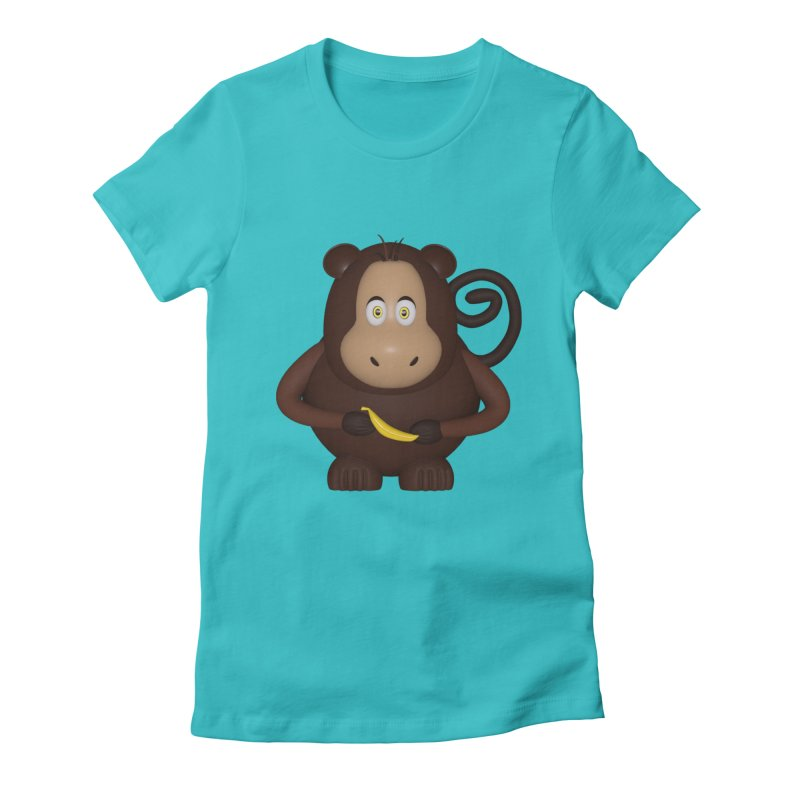 Monkey  Women's Fitted T-Shirt by Me&My3D
