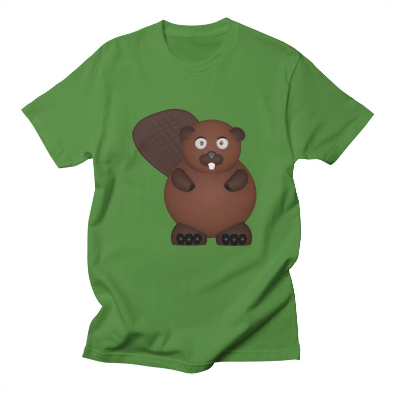 Beaver Men's Regular T-Shirt by Me&My3D