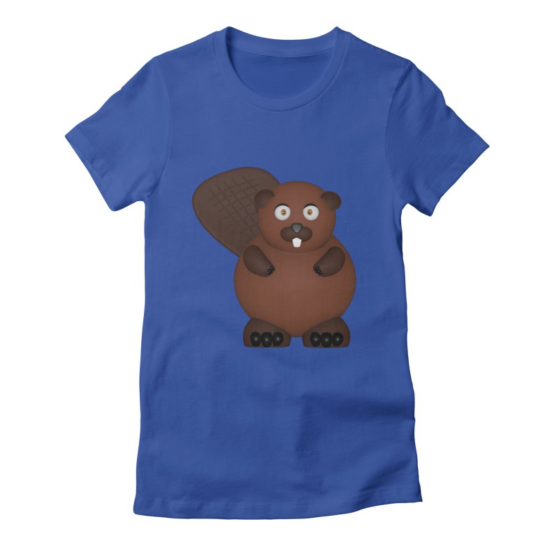 Beaver Women's Fitted T-Shirt by Me&My3D
