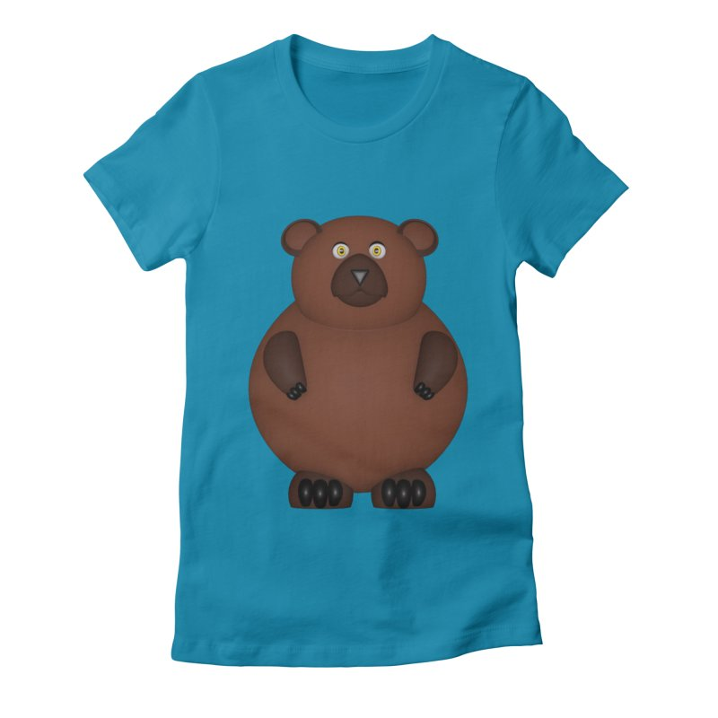 Bear Women's Fitted T-Shirt by Me&My3D