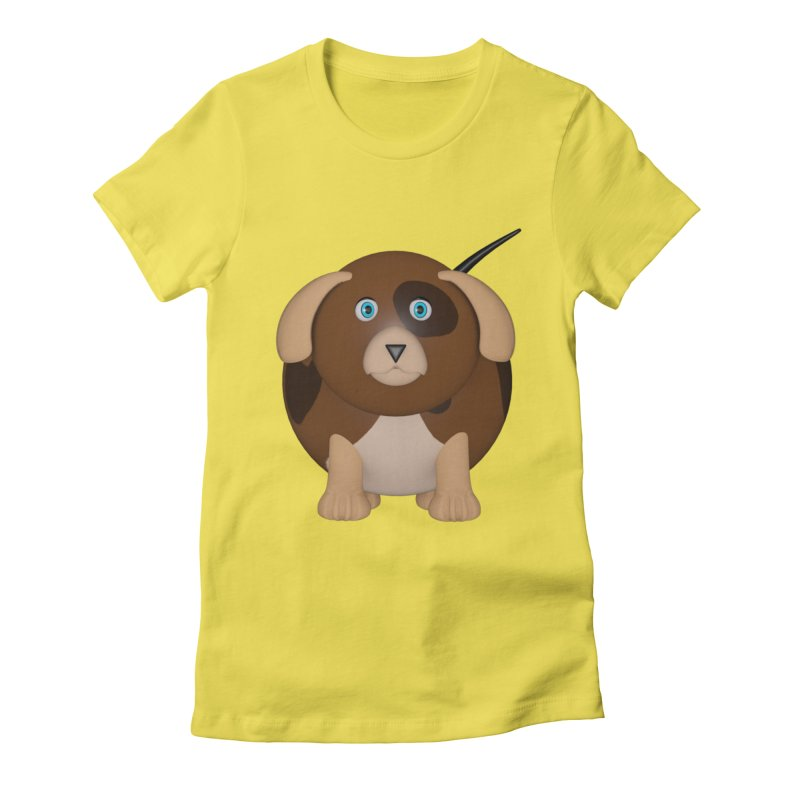 Beagle Dog Women's Fitted T-Shirt by Me&My3D