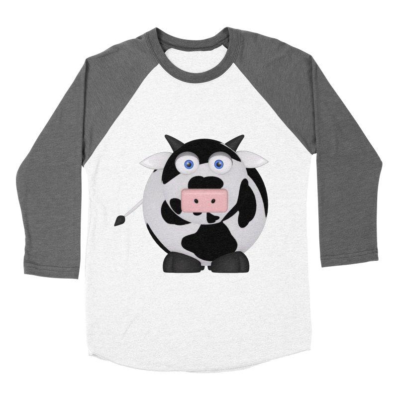 Cow Women's Baseball Triblend Longsleeve T-Shirt by Me&My3D