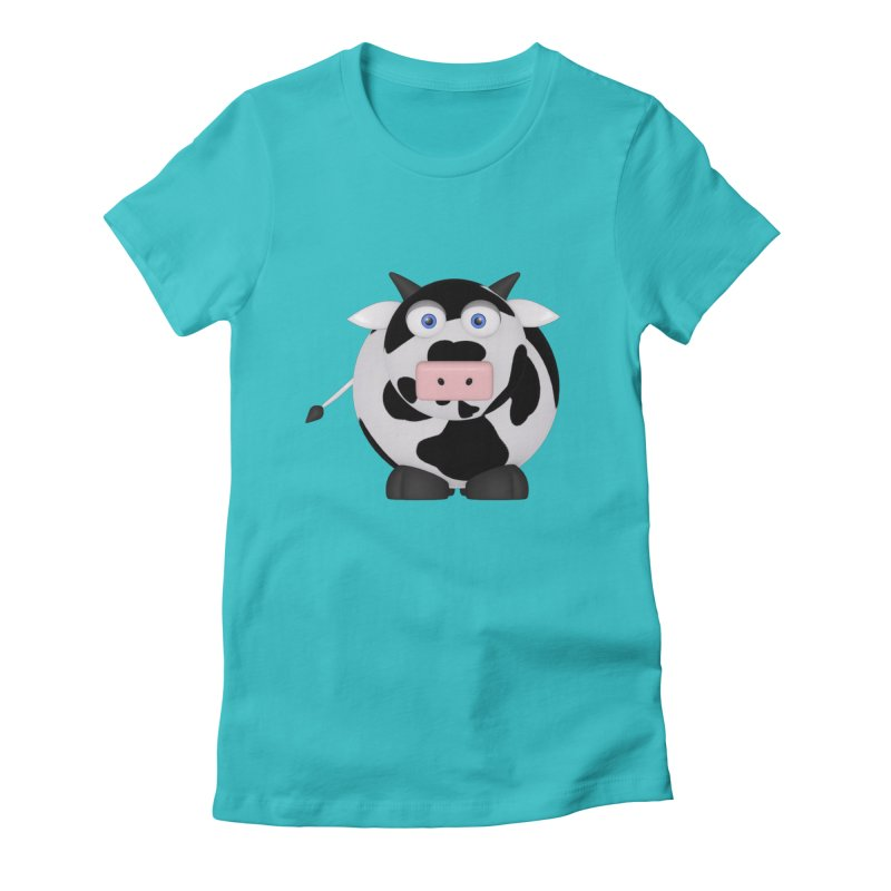 Cow Women's Fitted T-Shirt by Me&My3D