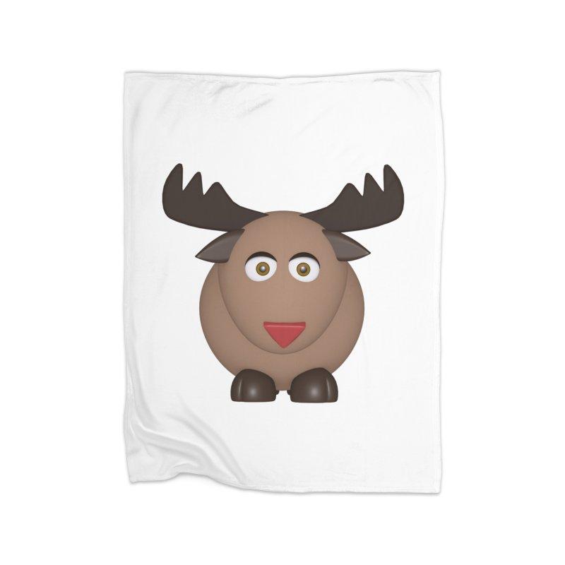 Elk/Reindeer Home Fleece Blanket Blanket by Me&My3D