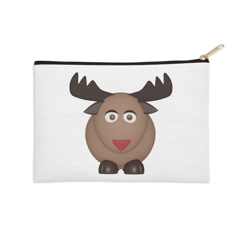 Elk/Reindeer Accessories Zip Pouch by Me&My3D