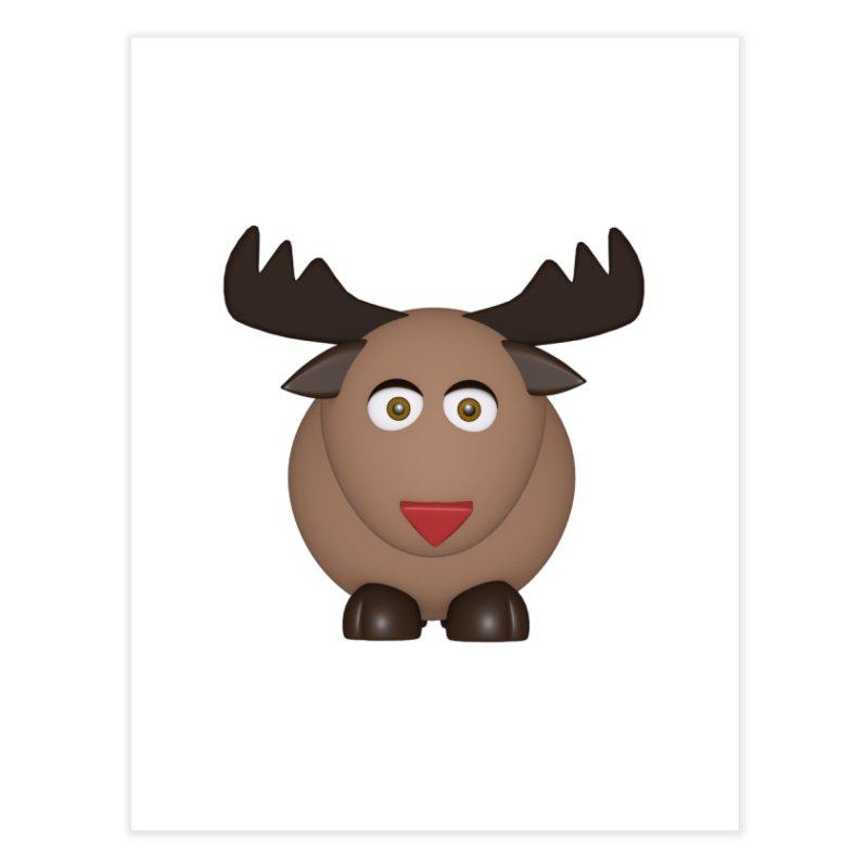 Elk/Reindeer Home Fine Art Print by Me&My3D