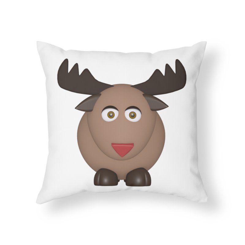 Elk/Reindeer Home Throw Pillow by Me&My3D