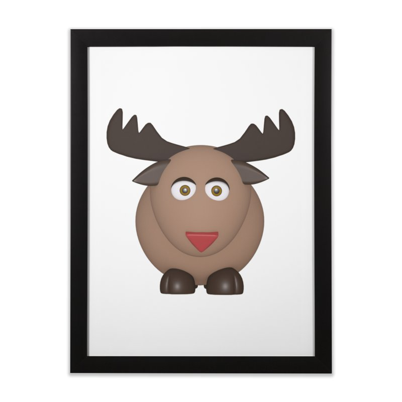 Elk/Reindeer Home Framed Fine Art Print by Me&My3D