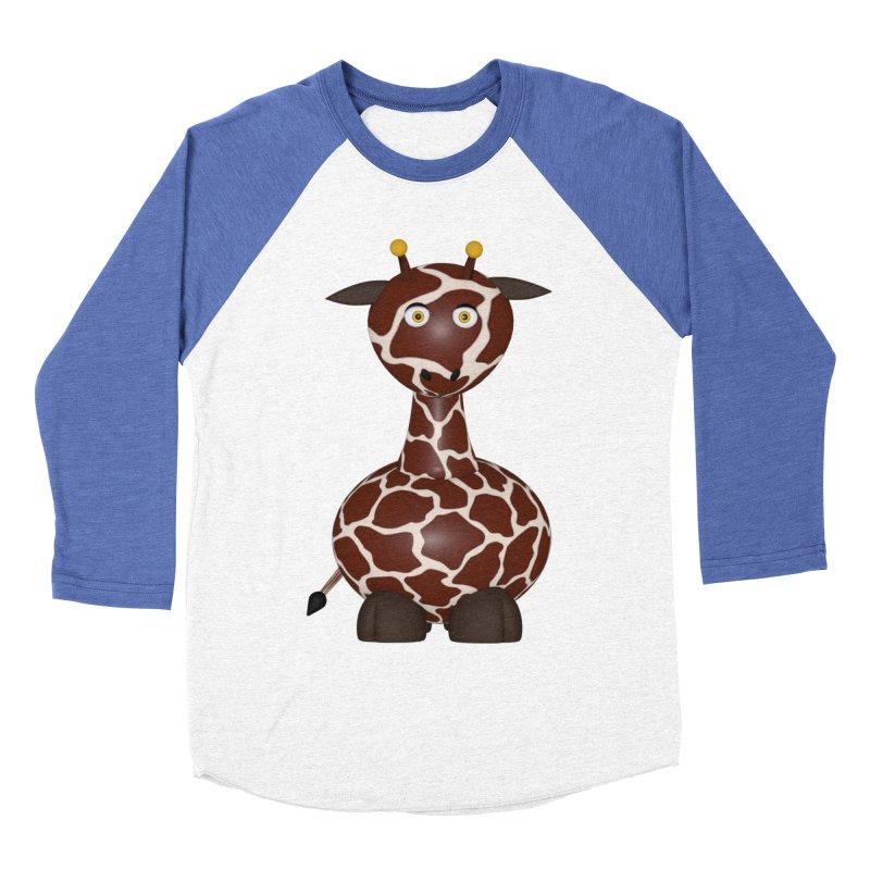 Giraffe Women's Baseball Triblend Longsleeve T-Shirt by Me&My3D