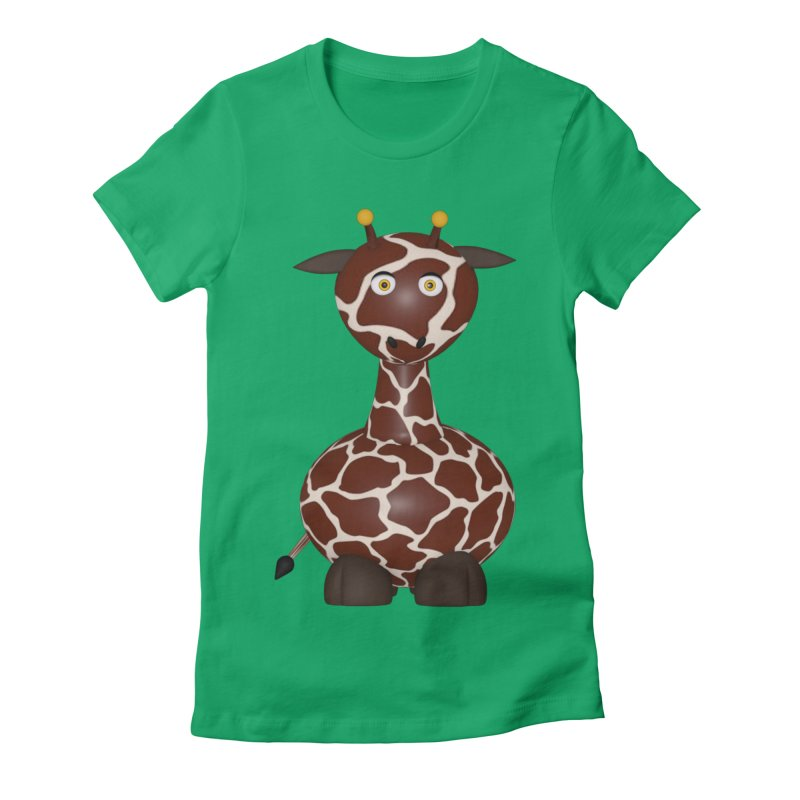 Giraffe Women's Fitted T-Shirt by Me&My3D