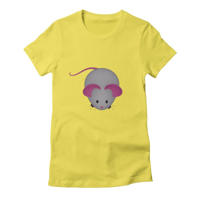 Mouse Women's Fitted T-Shirt by Me&My3D