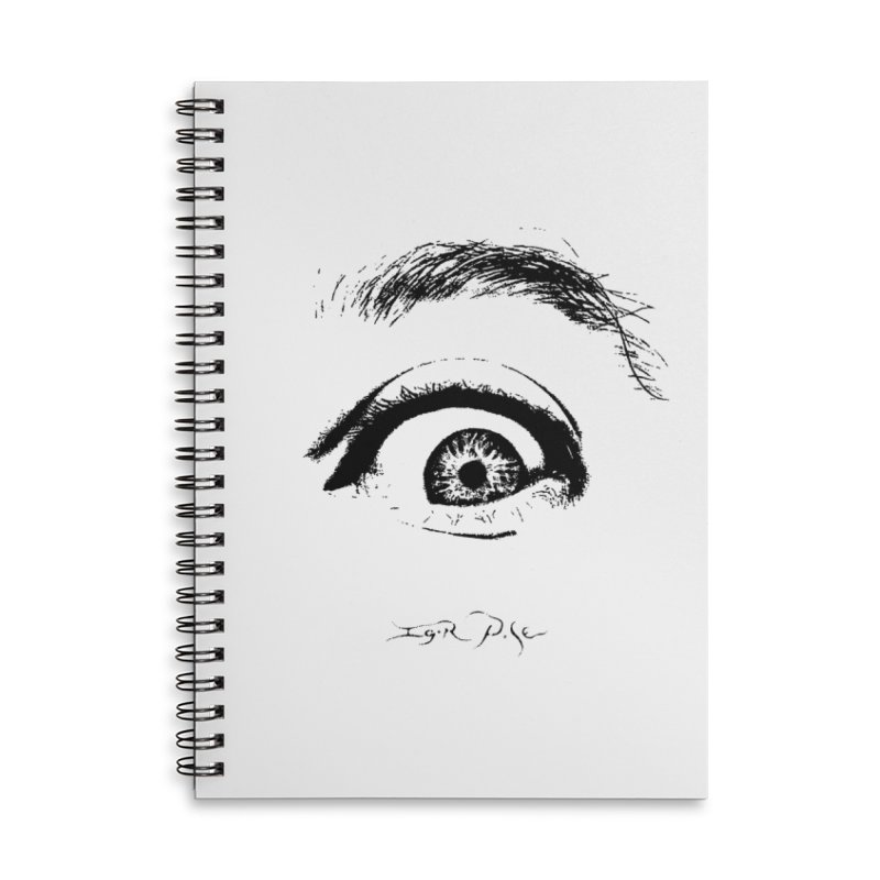The Eye Accessories Lined Spiral Notebook by IgorPose's Artist Shop
