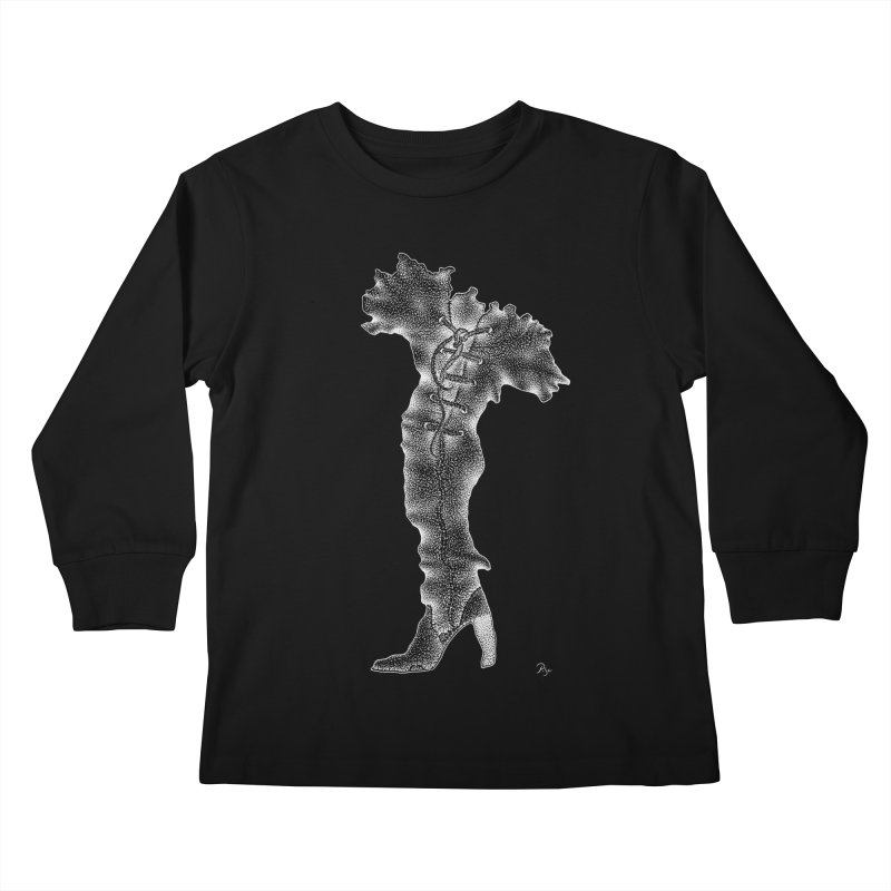 Footwear Land by Igor Pose Kids Longsleeve T-Shirt by IgorPose's Artist Shop