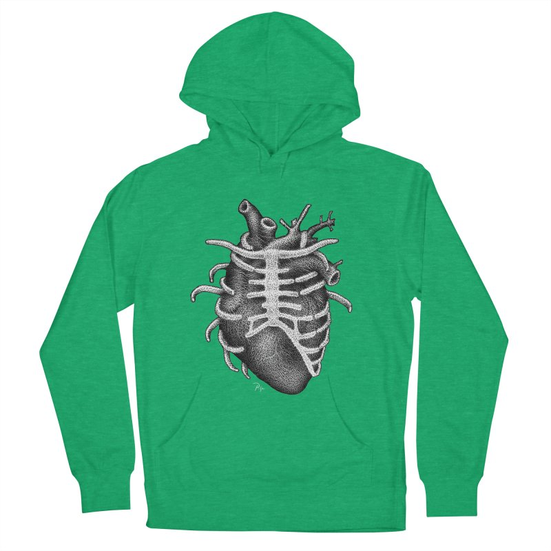 Big Heart by Igor Pose Women's French Terry Pullover Hoody by IgorPose's Artist Shop