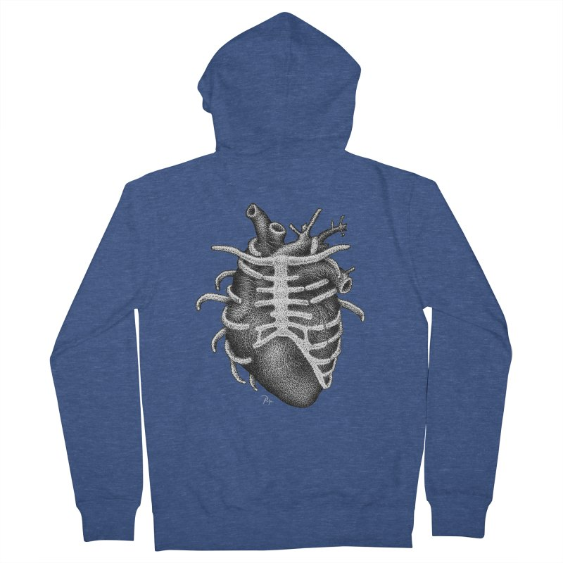 Big Heart by Igor Pose Men's French Terry Zip-Up Hoody by IgorPose's Artist Shop