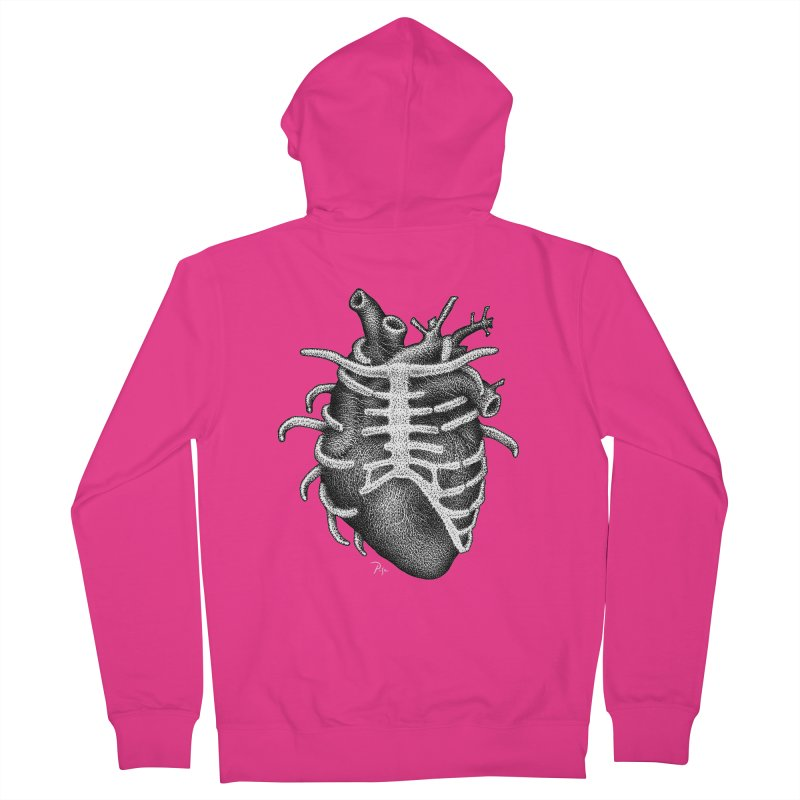 Big Heart by Igor Pose Men's Zip-Up Hoody by IgorPose's Artist Shop