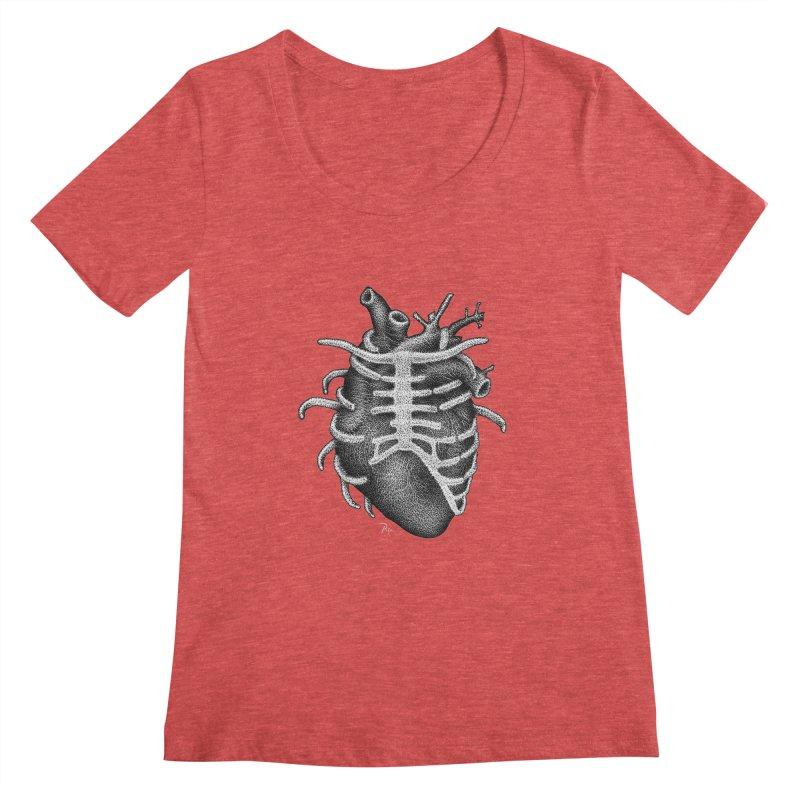 Big Heart by Igor Pose Women's Regular Scoop Neck by IgorPose's Artist Shop