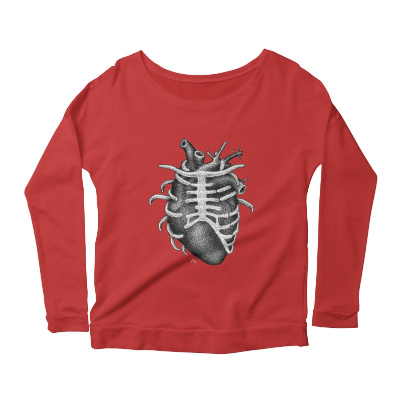 Big Heart by Igor Pose Women's Scoop Neck Longsleeve T-Shirt by IgorPose's Artist Shop