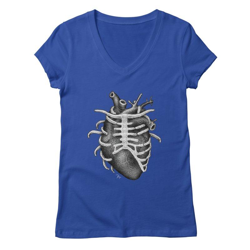 Big Heart by Igor Pose Women's V-Neck by IgorPose's Artist Shop