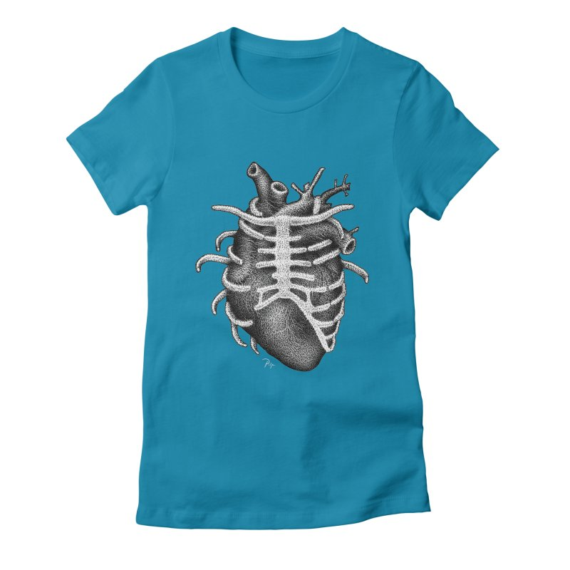 Big Heart by Igor Pose Women's Fitted T-Shirt by IgorPose's Artist Shop
