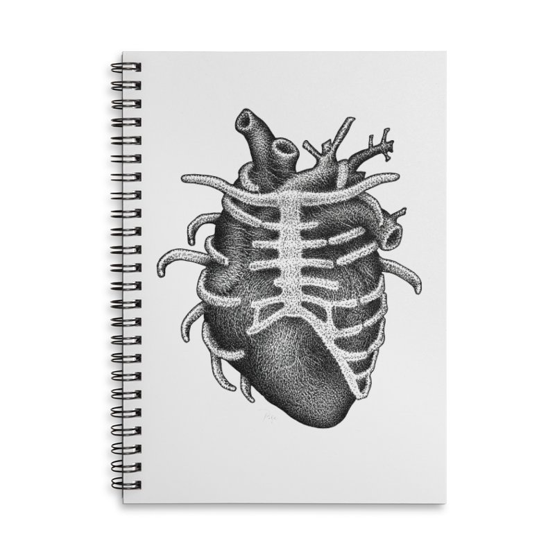 Big Heart by Igor Pose Accessories Lined Spiral Notebook by IgorPose's Artist Shop