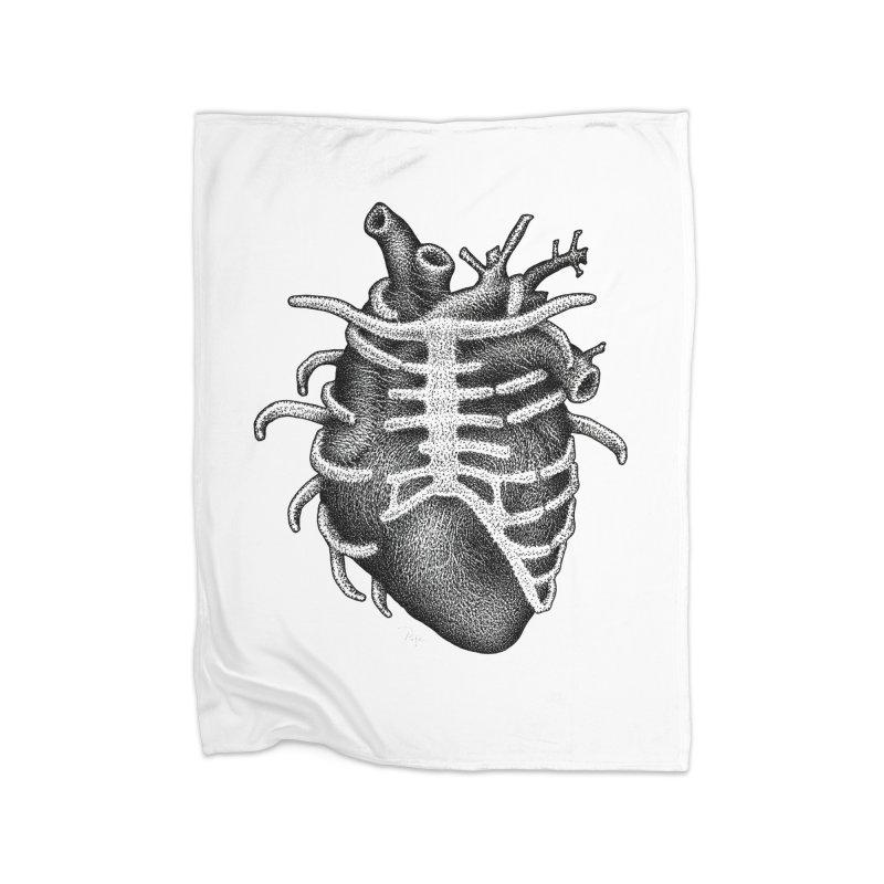 Big Heart by Igor Pose Home Fleece Blanket Blanket by IgorPose's Artist Shop