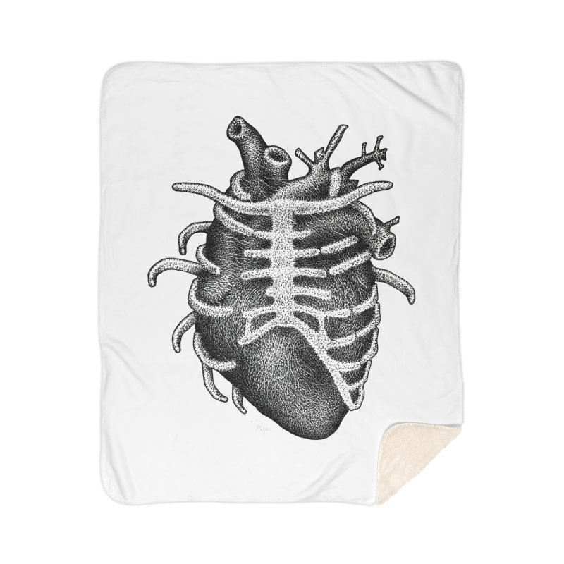 Big Heart by Igor Pose Home Sherpa Blanket Blanket by IgorPose's Artist Shop