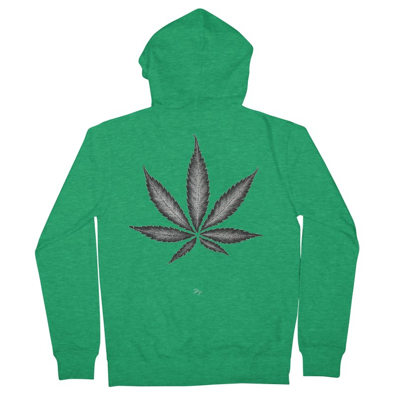 Greenlight Star by Igor Pose Men's French Terry Zip-Up Hoody by IgorPose's Artist Shop