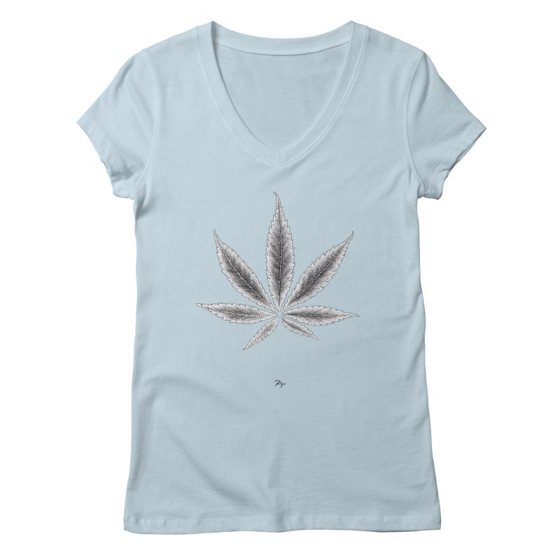 Greenlight Light Star by Igor Pose Women's Regular V-Neck by IgorPose's Artist Shop