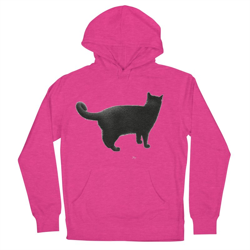 Black Cat by Igor Pose Women's French Terry Pullover Hoody by IgorPose's Artist Shop