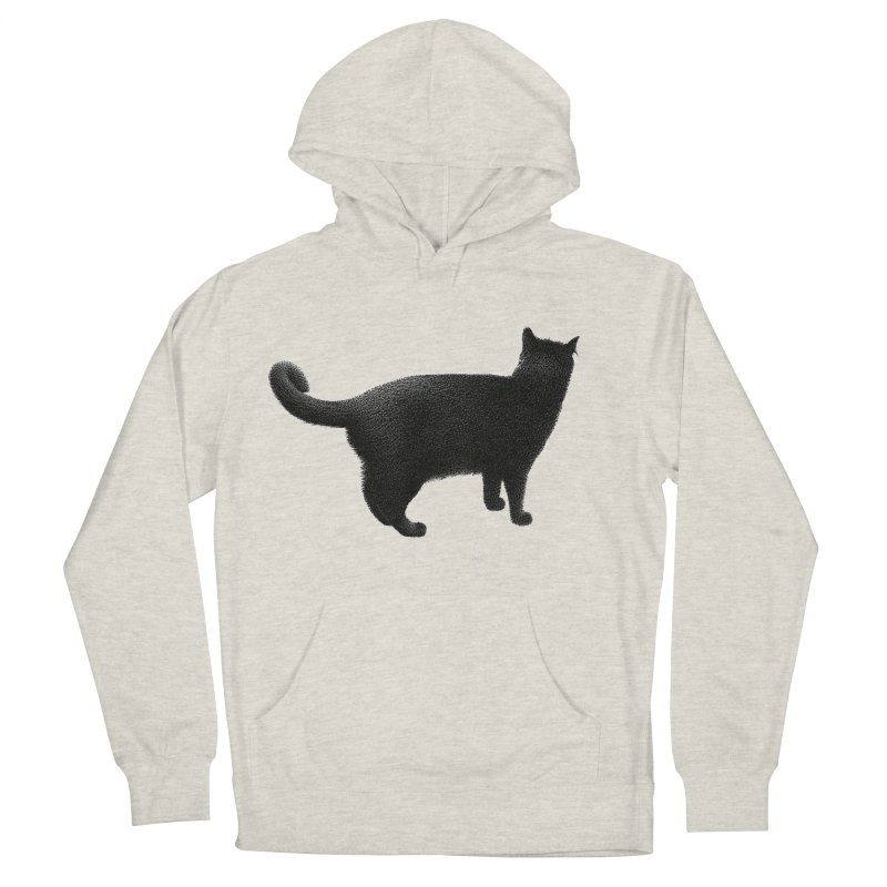 Black Cat by Igor Pose Men's French Terry Pullover Hoody by IgorPose's Artist Shop