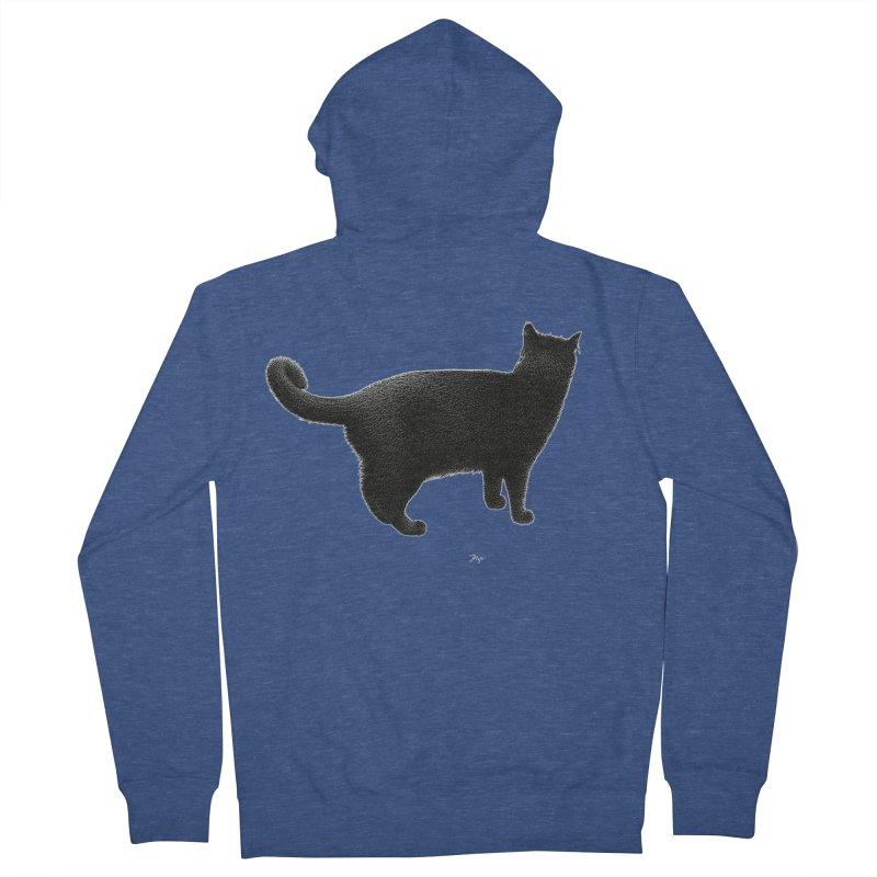 Black Cat by Igor Pose Women's French Terry Zip-Up Hoody by IgorPose's Artist Shop