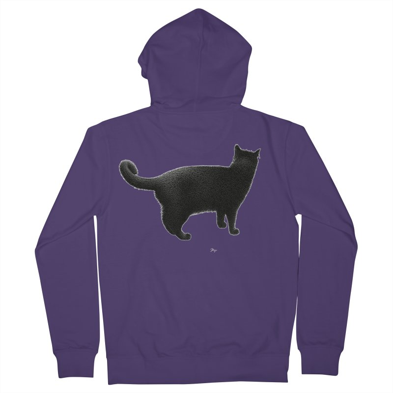 Black Cat by Igor Pose Women's French Terry Zip-Up Hoody by IgorPose's Artist Shop