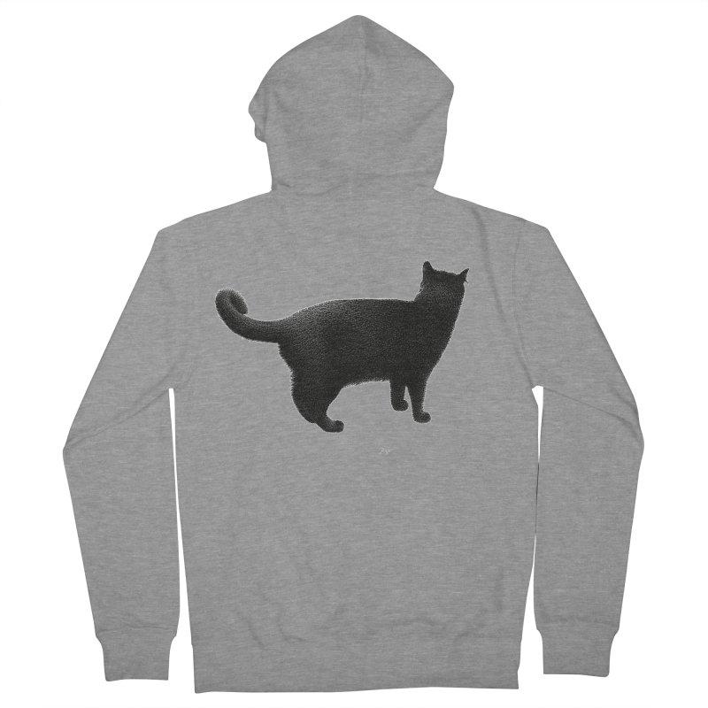 Black Cat by Igor Pose Men's Zip-Up Hoody by IgorPose's Artist Shop
