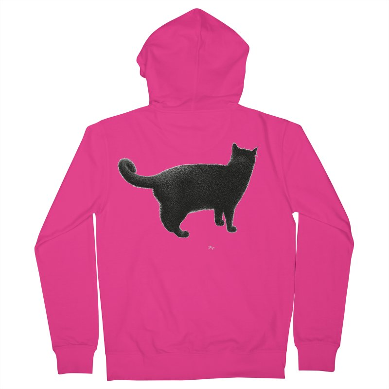 Black Cat by Igor Pose Men's French Terry Zip-Up Hoody by IgorPose's Artist Shop