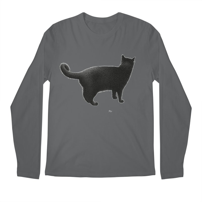 Black Cat by Igor Pose Men's Regular Longsleeve T-Shirt by IgorPose's Artist Shop